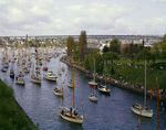 WASHINGTON - A 1965 photograph of 1000 assorted boats in Seattle's Yacht Parade on the opening day of boating season in the Lake Washington Ship Canal.