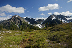 WASHINGTON - Mount Duckabush and O'Neil Peak from the Hart Lake Trail in Olympic National Park.