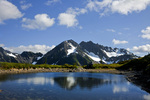 WASHINGTON - O'Neil Peak from Hart Lake in Olympic National Park.