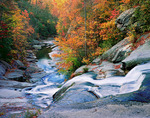 Lower waterfall on Gragg Prong, Pisgah National Forest, Avery County, North Carolina,  Autumn