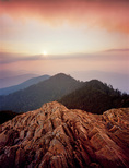 Sunset from Cliff Top, Mt. LeConte, Great Smoky Mountains National park, TN, Summer