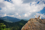 Hikers on Charlie's Bunion, Great Smoky Mountains National Park, Summer