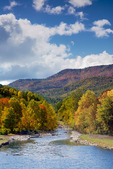 West Fork of the Pigeon River in Autumn
