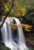 Dry Falls, Waterfall Byway (U.S. Hwy 64), Cullasaja River Gorge, North Carolina.   Autumn.