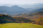 Hikers on Max Patch, Pisgah National Forest, NC, Autumn