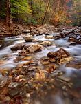 Big East Fork of the Pigeon River, Shining Rock Wilderness Area, North Carolina, Autumn, USA