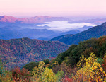 Sunrise view over Cherokee National Forest, TN, Autumn