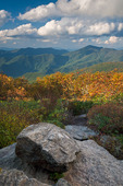 View from the Craggy Pinnacle Trail, Great Craggy Mountains, Blue Ridge Parkway, NC, Autumn