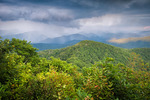 View from Tusquittee Bald on the Fires Creek Rim trail, Nantahala National Forest, NC