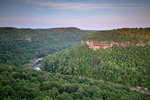View from Blue Heron overlook, Big South Fork National River and Recreation Area, Kentucky. June
