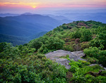 Sunset from Craggy Pinnacle, Great Craggy Mountains, NC, Summer