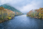 French Broad River flowing through Hot Springs, NC, Autumn