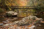 Bridge over Coker Creek on the John Muir Trail, Cherokee National Forest, TN, Autumn
