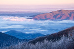 View from Max Patch in Pisgah National Forest into Tennessee, North Carolina, Winter