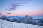 Winter view at dawn from Max Patch Mountain, Pisgah National Forest, NC, USA.