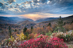 Sunset on the Blue Ridge Parkway, NC, Autumn