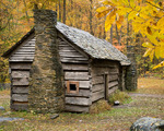 Ephraim Bales cabin, Great Smoky Mountains National Park, Autumn