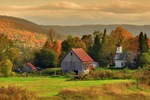 Autumn paints a beautiful landscape in Vermont's Northeast Kingdom.