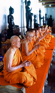 Buddhist monks praying for the dead