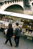 Art work for sale along the Seine River