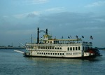 Creole Queen leaves for twilight cruise on Mississippi River