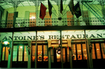 New Orleans Antoine's restaurant at night