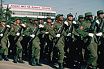 CUBA. Havana : military parade on Plaza de la Revolucion.