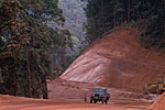 BRAZIL. State of Para. Destroying the rain forest to build roads through the Amazon forest.