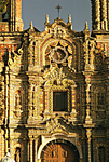 MEXICO, Puebla State. Church of San Francisco Acatepec 18th century. Churrigueresque style facade adorned with tiles called azulejos.