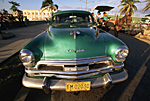 CUBA. In Cienfuegos a Chrysler car from the 50s.