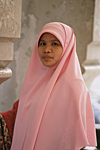 MALAYSIA : Muslim Malay woman wearing the veil in the capital city Kuala Lumpur.