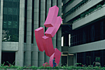 VENEZUELA, in the center of Caracas : sculpture by artist Rafael Barrios called Horizonte Ascendiente.