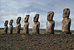 CHILE Moa� in Easter Island called The Seven Monkeys.