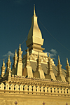 LAOS, Southeast Asia, capital city of Vientiane : Stupa of the main Buddhist pagoda, the Wat Phra That Luang.