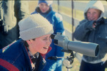 Young Birder Looks Through a Scope