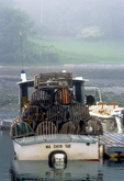 Lobster Traps on a Boat
