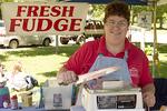 Woman Selling Fudge at a Country Fair