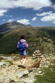 Hiking on Mt. Eisenhower in the White Mountains
