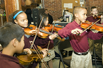 Young Musicians Practicing in School