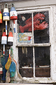 Window of a Fishing Shack in Rockport, Massachusetts