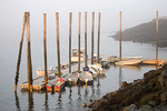 Rowboats Tied Up in Lubec Harbor