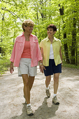 Two Women Walking on the Wachusett Rail Trail
