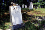 Grave of a child at the Dromore Burying Ground in Phippsburg, Maine  