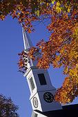Petersham Unitarian Church and Fall Foliage