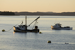 Fishing Boats Moored in Lubec Harbor