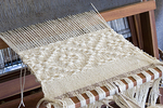 Woolen Runner on a Loom