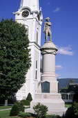 Ethan Allen Monument and the First Congregational Church