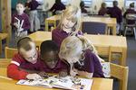 Elementary School Children Reading