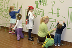 Children with Tape Art