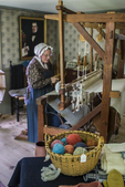 Costumed Interpreter Weaving at Old Sturbridge Village